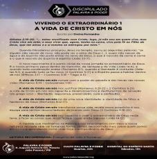 Imagem da ministração - VIVENDO O EXTRAORDINÁRIO 1 - A VIDA DE CRISTO EM NÓS