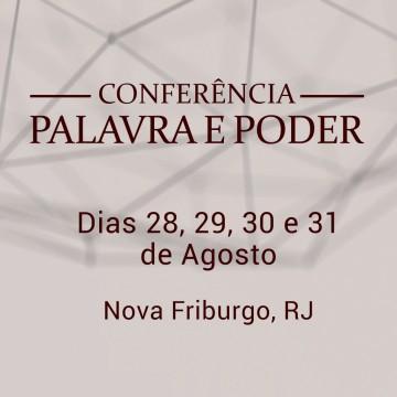 Notícia - Conferência Palavra e Poder - Rio de Janeiro
