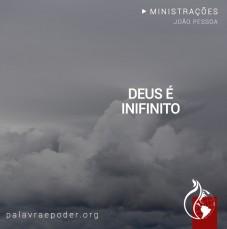 Imagem da ministração - Deus é Infinito