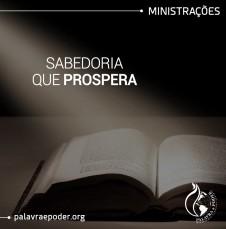 Imagem da ministração - Sabedoria que Prospera