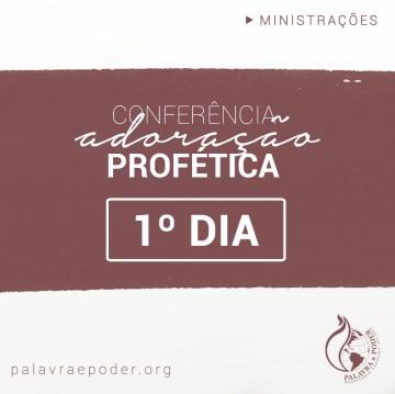 Imagem da ministração - Conferência adoração profética - 1º Dia