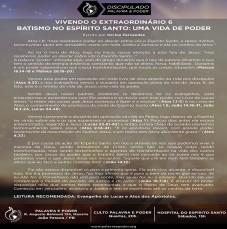 Imagem da ministração - VIVENDO O EXTRAORDINÁRIO 6 - BATISMO NO ESPÍRITO SANTO: UMA VIDA DE PODER
