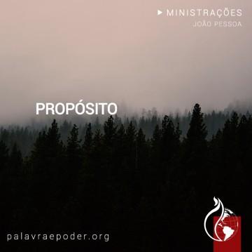 Imagem da ministração - Propósito