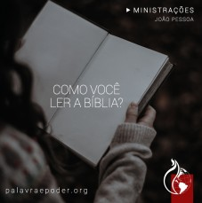 Imagem da ministração - Como você ler a bíblia?