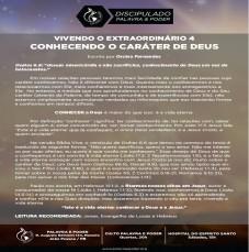 Imagem da ministração - VIVENDO O EXTRAORDINÁRIO 4 - CONHECENDO O CARÁTER DE DEUS