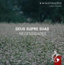 Imagem da ministração - Deus supre suas  necessidades
