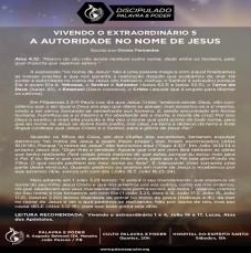 Imagem da ministração - VIVENDO O EXTRAORDINÁRIO 5 - A AUTORIDADE NO NOME DE JESUS