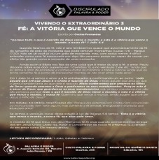 Imagem da ministração - VIVENDO O EXTRAORDINÁRIO 3 - FÉ: A VITÓRIA QUE VENCE O MUNDO
