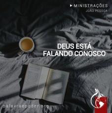 Imagem da ministração - Deus está falando conosco