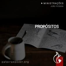 Imagem da ministração - Propositos