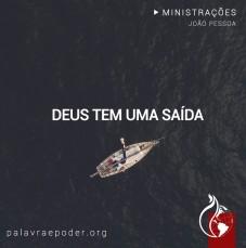 Imagem da ministração - Deus tem uma saída